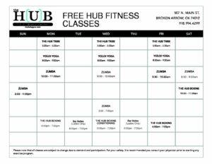 2019 HUB GroupX Schedule (8.5x11) 2